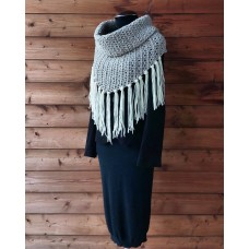 Neck Poncho 2 Plies Ghiaccio Sole