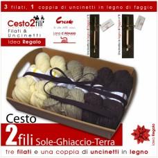 """Gift Basket """"2 Plies"""" - Sole Ghiaccio Terra -"""