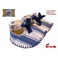Baby Shoes DIY kit - Blue Cotton -