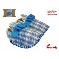 Baby Shoes DIY kit - Light Blue Cotton -