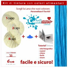 Kit di tintura Lana - Celeste