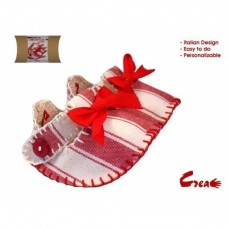 Baby Shoes DIY kit - Red Cotton -