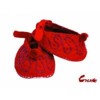 Baby Shoes DIY kit - Red Felt -