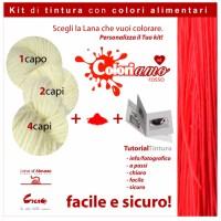 Kit di tintura Lana - Rosso