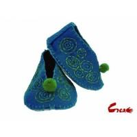 Baby Shoes DIY kit - Turquoise Felt -