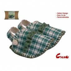 Baby Shoes DIY kit - Green Cotton -