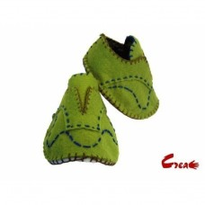 Baby Shoes DIY kit - Green Felt -