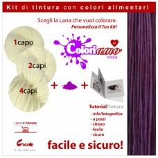 Kit di tintura Lana - Viola